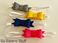Six Sisters' Stuff: Felt Bow Hairbow Tutorial (and free printable template!)