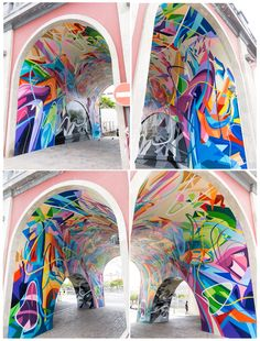 Sabotaje al Montaje - Puente Serrador - New piece in Cruz de Tenerife - May 2014 #streetart #color