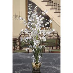 Nearly Natural 1073 Dancing Lady Liquid Illusion Silk Flower Arrangement