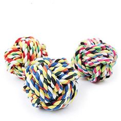 LSHCX Colourful Cotton Rope Woven Ball Pet Toy * Click image to review more details.(This is an Amazon affiliate link and I receive a commission for the sales)