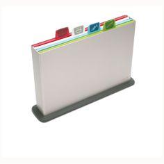Joseph Joseph Index™   4 colour-coded chopping board and storage case