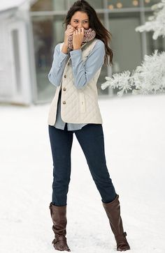 Misses > heritage quilted vest at J.Jill  Love the whole outfit.   Med