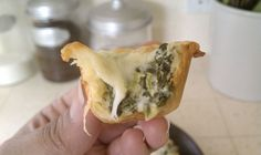 Artichoke and spinach bites.  Sounds easy and tasty.