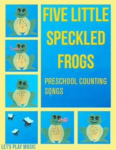 5 Little Speckled Frogs - Counting Songs - Lets Play Music - shows how to play on a xylophone plus has sheet music. Other songs on site too.