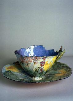 Pottery Mugs, Ceramic Pottery, Pottery Art, Tea Cup Saucer, Tea Cups, Tassen Design, Arte Fashion, Keramik Vase, Teapots And Cups
