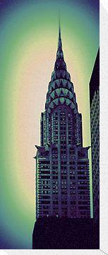Chrysler Building - Print For Sale http://www.redbubble.com/people/amandavontobel/works/8941680-chrysler-building-angular-crop