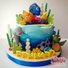 finding dory cake - Google Search
