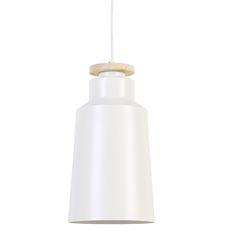 Hanglamp Nerena wit is een mooie neutrale lamp. De lamp heeft een pure uitstraling, maar toch net dat extraatje. De neutrale witte kleur van de hanglamp Nerena in combinatie met een klein hout detail geeft de lamp een frisse look. De houten schijf die zich aan de bovenkant van de lampenkap bevind zorgt voor iets unieks. Deze lamp is tijdloos, modern en net even anders dan anders! Hanglamp Nerena in het wit met hout is afkomstig van het merk Light & Living. Buy buy buy!!