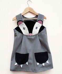 Badger girls dress by wildthingsdresses on Etsy, 60.00
