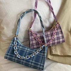Vintage Clothing Y2K Clothing Mesh Tote Bag Plaid Tote Bag Pink Plaid Colorful Rainbow Tote Bag Womens Clothing Women/'s Clothing