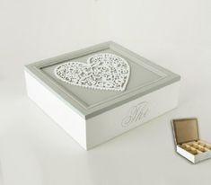 Caja para infusiones con corazón | Artículo | Tienda de decoracion online , muebles y objetos de diseño vintage, Bellos Signos