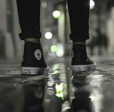 converse, black, and feet image