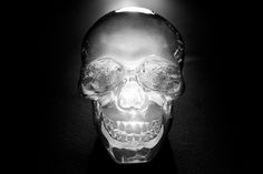 Glass Skull Decoration