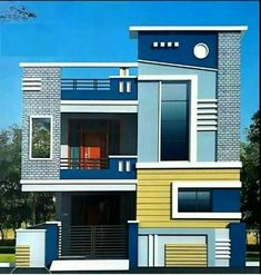 house elevation, islamabad house elevation, Pakistan house elevation - Her Crochet House Front Wall Design, Single Floor House Design, Modern Small House Design, Village House Design, Bungalow House Design, Cool House Designs, Bungalow Exterior, Casas The Sims 4, Independent House