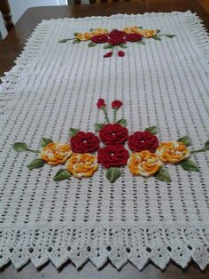 Crochet Polka Dot Lines Baby Blanket Pattern Crochet Flower Tutorial, Crochet Lace Edging, Thread Crochet, Filet Crochet, Diy Crochet, Crochet Doilies, Crochet Flowers, Crochet Rug Patterns, Crochet Designs