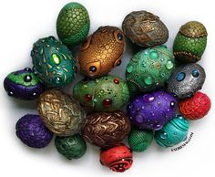 """The dragon eggs below have been carefully plucked from an ancient and magical dragon lair; no harm was done to any dragon in the plucking, and by purchasing and agreeing to care for these eggs you are very likely saving a small village."""