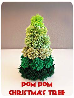3squeezes: Pom Pom Christmas Tree | Christmas Yarn Crafts