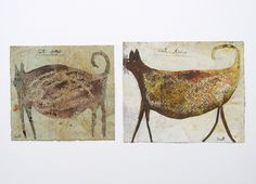 """Scott Bergey, Canadian, b. 1967. """"Cat One and Cat Two."""""""