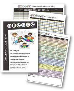 DECLIC - Classeur PE version 2015-2016 Cycle 3, Daily 5, Kids Learning, Spelling, Back To School, Preschool, Notebook, Organization, Montessori