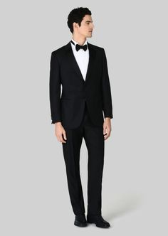 Giorgio Armani Wall Street Wool And Cashmere Tuxedo Giorgio Armani, Armani Men, Black Tuxedo, Tuxedo For Men, Brooks Brothers, Armani Black, Italian Fashion, Mens Suits, Derby