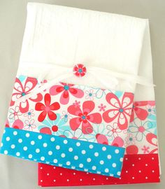 Teal and Red Fabric. Kitchen towels too @nikki striefler striefler Kibe