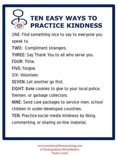Kindness matters. Use this poster coach to  show you kids the way.
