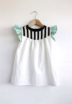 Handmade Cotton Dress With Stripe Detail | SwallowsReturn on Etsy