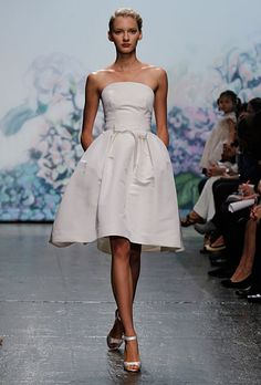 Knee-Length Wedding Dresses | Brides.com Rehearsal dinner or bridal shower