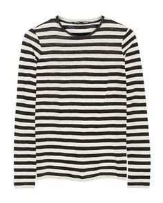 The Cape: Proenza Schouler black and white striped t-shirt / Garance Doré
