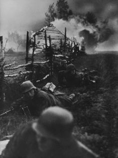 On leaving the Soviet village, the Das Reich Division troops were fired on…