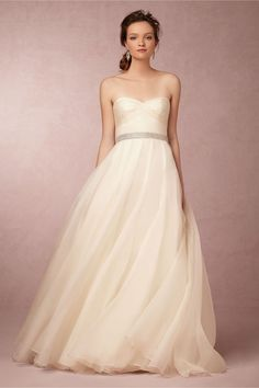 Mabel Gown in Bride Wedding Dresses Strapless at BHLDN