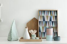 Spear - plateau design by Ferm Living Fern Living, Plateau Design, Living Colors, Geometric Decor, Geometric Prints, Tea Cozy, Blog Deco, Deco Design, Home And Deco
