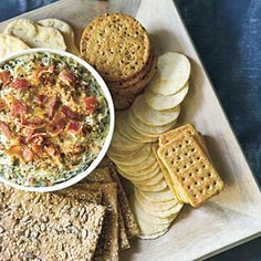 Warm Turnip Green Dip - Sparkling New Year's Party - Southernliving. Recipe: Warm Turnip Green Dip To make the dish spicier, offer guests several brands of hot sauce on the side. Best Party Appetizers, Appetizer Dips, Appetizer Recipes, Party Dips, Appetizers Table, Party Snacks, Football Party Foods, Football Food, Turnip Greens