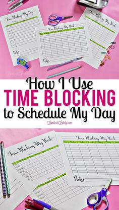 See how you can use time blocking to schedule an effective and productive day! This post includes free weekly and daily planner time blocking printables. Schedule Printable, Daily Planner Printable, Monthly Planner, Free Printables, My Notes App, My Best Secret, Block Scheduling, Blog Planner, 2015 Planner
