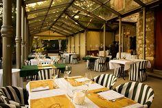 Ресторан в г.Брешия, терраса на открытом воздухе.