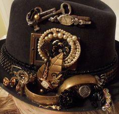 Steampunk Fedora Hat Funky Club Accessory A by Hopscotch Couture...it s the  details 27a1da2b9a3
