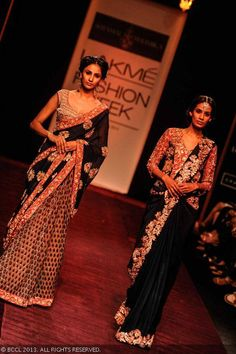 Sarees by Shyamal and Bhumika at LFW 2013