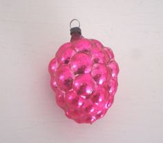 VINTAGE PINK GRAPES Ornament  Cluster  Mercury by IWANTVINTAGE, $15.00