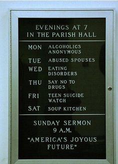 Humorous church signage