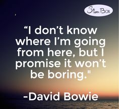 #davidbowie #stembox #mondaymotivation