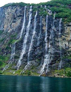 Seven Sisters Waterfall-Norway