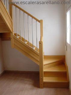ARELLANO - ESCALERAS DE MADERA :: Escaleras de madera y combinadas :: escalras de paso Japones :: escaleras de caracol :: escaleras de semi-caracol :: escaelras rectas :: escaleras combiandas con otros materiales