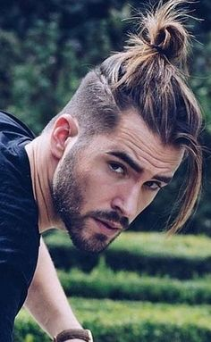 Ponytail Hairstyles for Men Long Curly Hair Men Long Straight Hair with Beard, Long Hairstyles for Men, hair styles for women Ponytail Hairstyles For Men, Undercut Hairstyles, Hairstyles Haircuts, Haircuts For Men, Straight Hairstyles, Man Bun Undercut, Haircut Men, Short Haircuts, Long Hairstyles For Men
