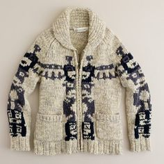 j. crew sweater...a rendition of the classic cowichan sweater...