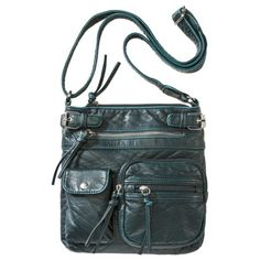 Bueno Pebble Crossbody Handbag - Blue from Target.  Is it wrong that I feel like I need a purse that I could run away with the Doctor in?