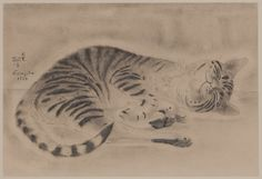 Tsugouharu Foujita, French (1886-1968) | Cat, 1925