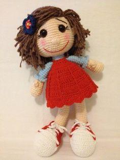 Kırmızılı amigurumi doll - bebeğim