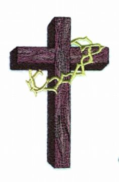 Old Wooden Cross embroidery design