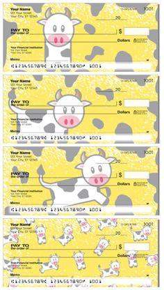 Cute Cow Personal Checks