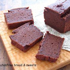 ヘルシーな♡豆腐とココアの米粉パウンドケーキ